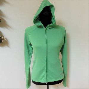 The North Face Green Full Zip VaporWick Hoodie XS